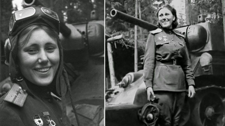 Alexandra G. Samusenko memerintahkan T-34 dalam Pertempuran Kursk.  Sesaat sebelum perang berakhir, Samusenko jatuh - 70 kilometer dari Berlin.
