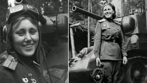 Alexandra G. Samusenko befehligte einen T-34 in der Schlacht um Kursk. Kurz vor Ende des Krieges fiel Samusenko - 70 Kilometer vor Berlin.