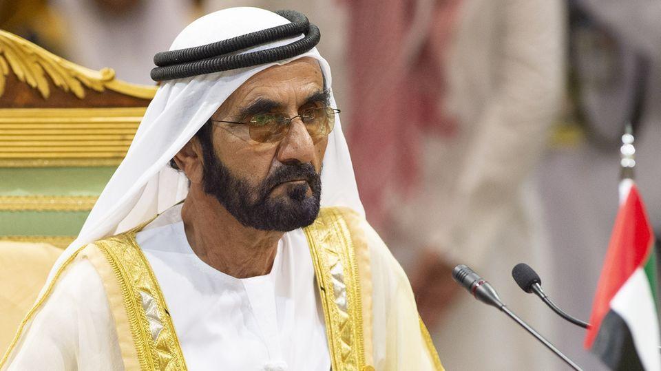 Der Emir von Dubai, Scheich Mohammed bin Rashid Al Maktoum. Im Frühjahr urteilte ein britisches Gericht, der Emir können für die Entführung zweier seiner Töchter verantwortlich gemacht werden