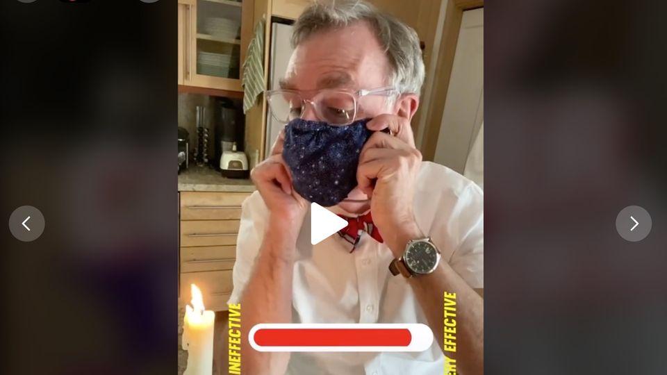 Post auf TikTok: Eine Botschaft an alle Skeptiker: Moderator zeigt, warum Masken so wichtig sind