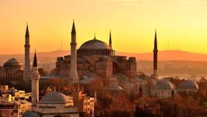 Die weltberühmteHagia Sopia in Istanbul