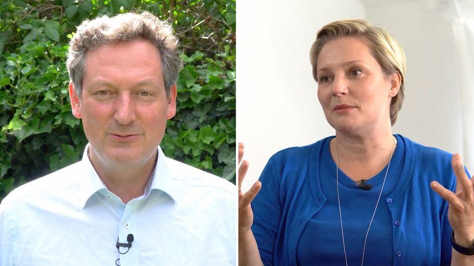 Eckart von Hirschhausen und Janine Steeger