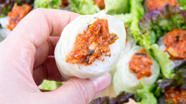 Koreanisches Ssambap