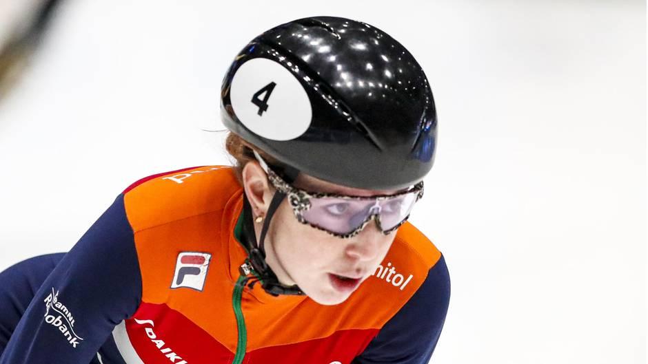 Lara van Ruijven beim Vorlauf über 1000 Meter im Februar 2020