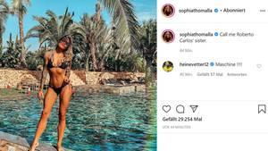 Sophia Thomalla zeigt sich durchtrainiert am Pool