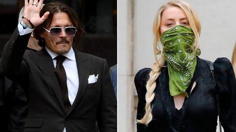 Johnny Depp und Amber Heard vor dem Londoner Gericht