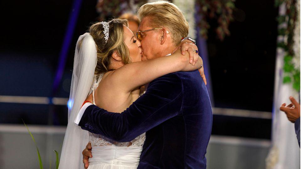 Markus Mörl hatte es sehr eilig, seine Braut zu küssen