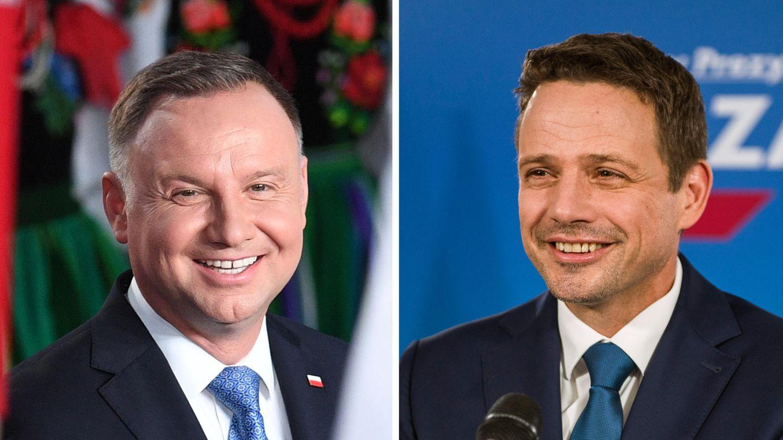 Andrzej Duda (l.) und Rafal Trzaskowski