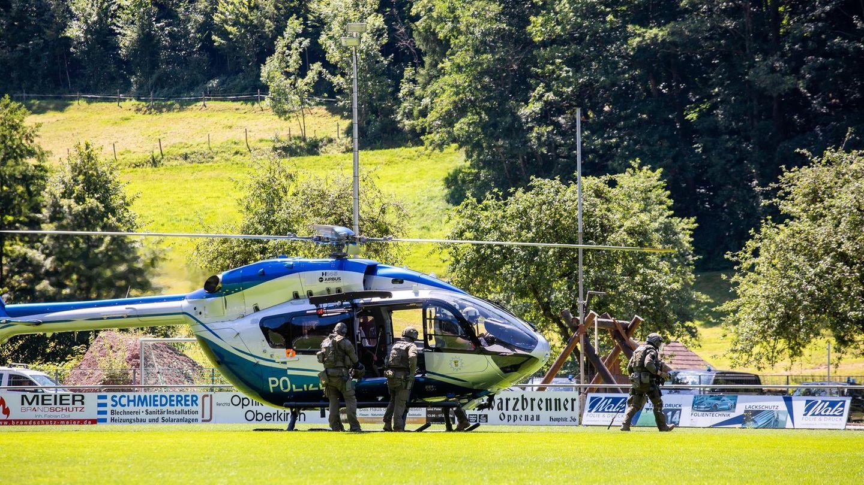 Polizeihubschrauber in Oppenau