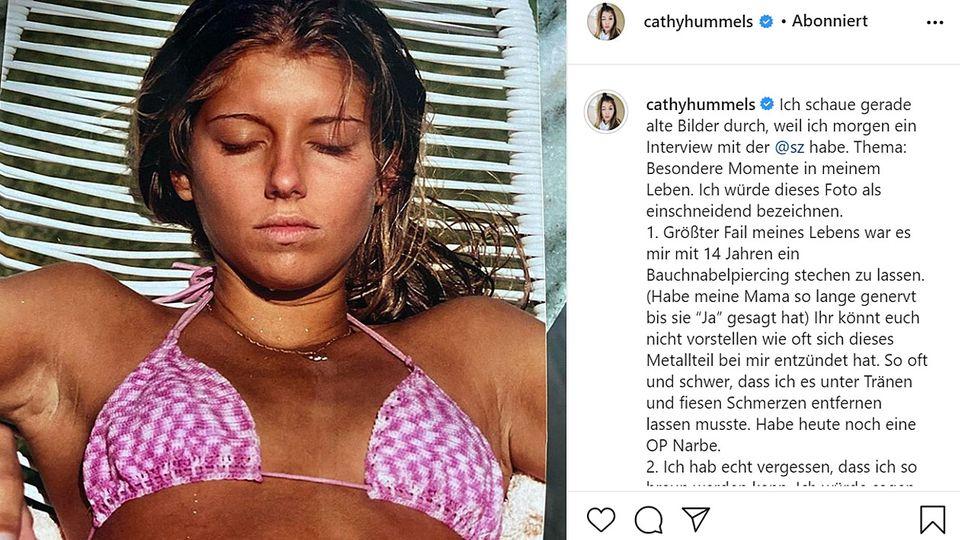 Cathy Hummels postete dieses alte Foto auf Instagram
