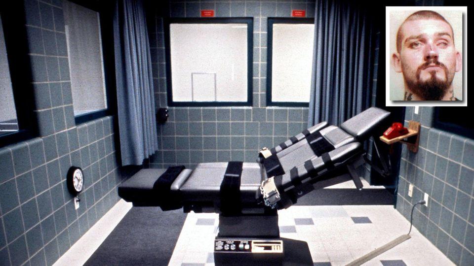 Hinrichtungsstuhl im US-Bundesgefängnis in Terre Haute in Indiana