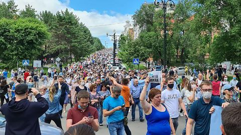Massenproteste in Chabarowsk: Putin auf Rachefeldzug: Im Fernen Osten bringt eine Verhaftung das Fass zum Überlaufen