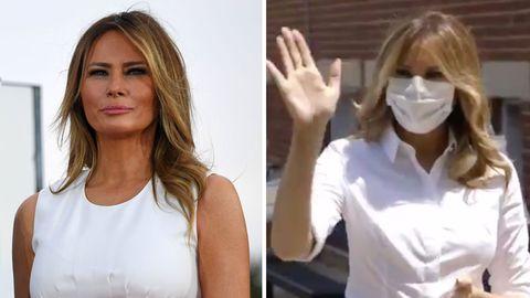 Melania Trump trägt öffentlich eine Maske