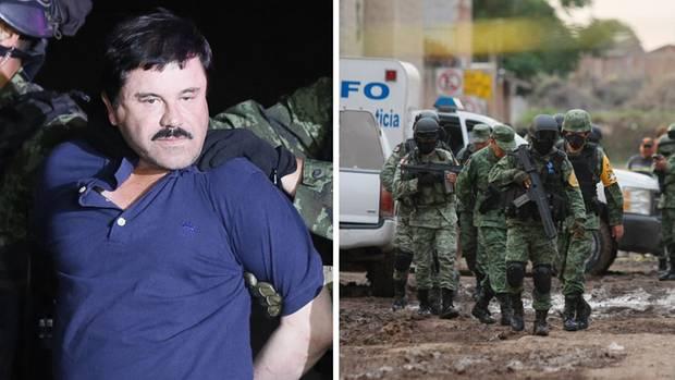 """Festnahme von """"El Chapo""""; Sicherheitskräfte in Mexiko"""