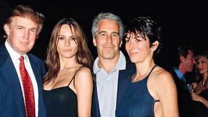 Donald Trump und Melania mit Jeffrey Epstein und Ghislaine Maxwell