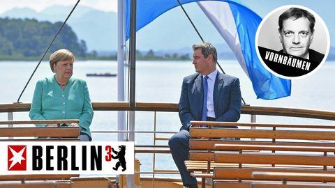 Berlin³: Merkels Tag und Söders Beitrag