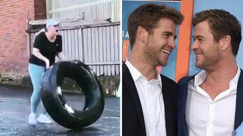 Rebel Wilson und Liam und Chris Hemsworth