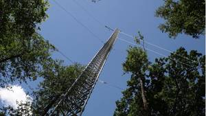 Treibhausgas-Messturm im Biosphvßrenreservat Spreewald
