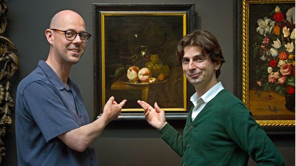 Der Biologe Ive De Smet und  Kunsthistoriker David Vergauwen