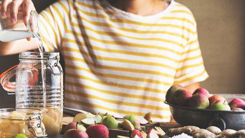 Apfelessig hat eine besonders guten pH-Wert