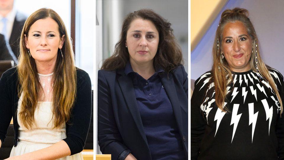 Linken-Politikerin Janine Wissler, RechtsanwältinSeda Başay-Yıldız und KabarettistinIdil Baydar
