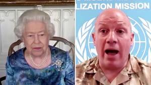 Queen meldet sich per Video-Call bei Angehörigen der Streitkräfte