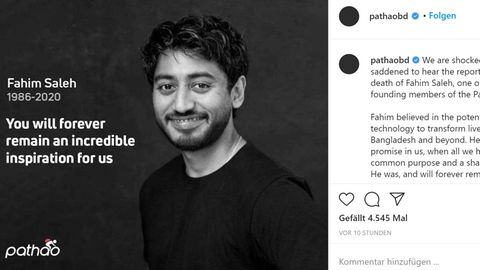 Tech-Millionär Fahim Saleh in Trauerposting auf Instagram