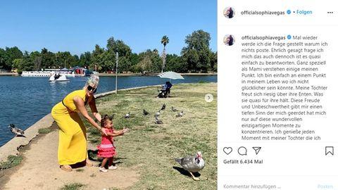 Sophia Vegas teilt ein Bild mit ihrer Tochter