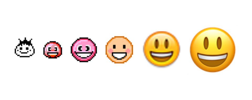 Der lachende Smiley hat sich in den letzten Jahrzehnten stark verändert