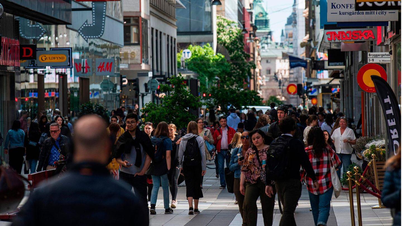 Menschen in der Stockholmer Innenstadt