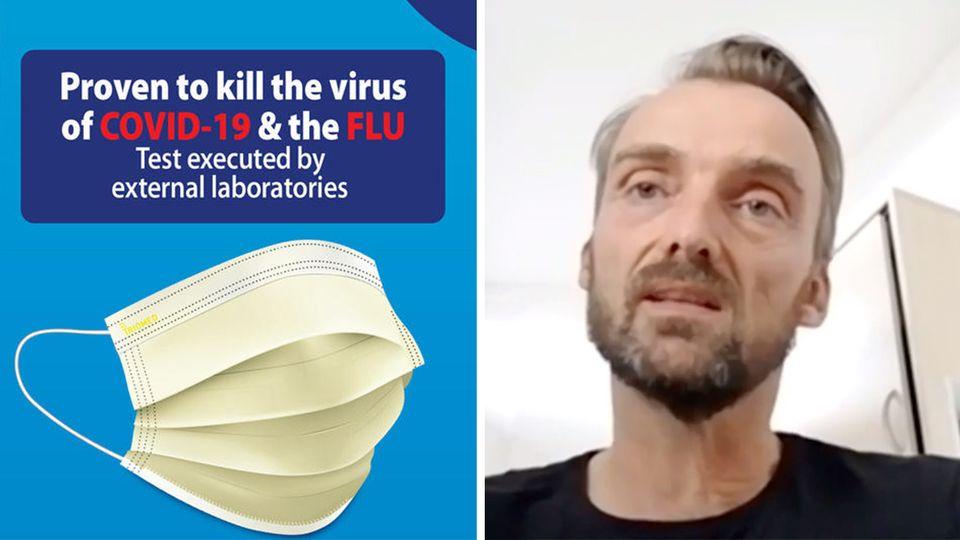 """Von deutscher Uni mitentwickelt: Kann eine neue """"Super-Maske"""" wirklich Viren töten?"""