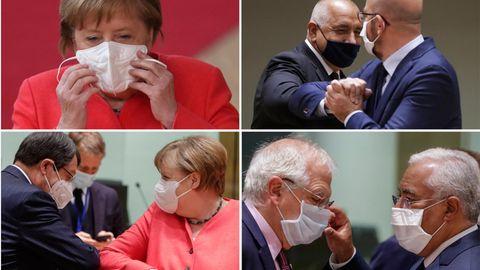 Brüssel: So witzig begrüßen sich Merkel und Co. beim EU-Gipfel
