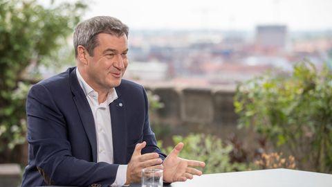CSU-Chef Markus Söder während des ZDF-Sommerinterviews