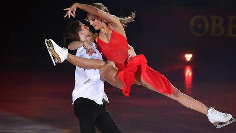 Jekaterina Alexandrowskaja und ihr Partner bei denJunioren-Weltmeistererschaften 2017
