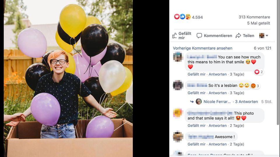 """Coming-Out: Mutter richtet Gender-Reveal-Party für ihren Transgender-Sohn aus: """"Wir lagen falsch"""""""