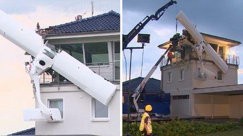 Nachrichten aus Deutschland: Kleinflugzeug fliegt in Flugzeug-Tower bei Berlin