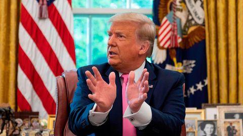 US-Präsident Donald Trump spricht im Weißen Haus