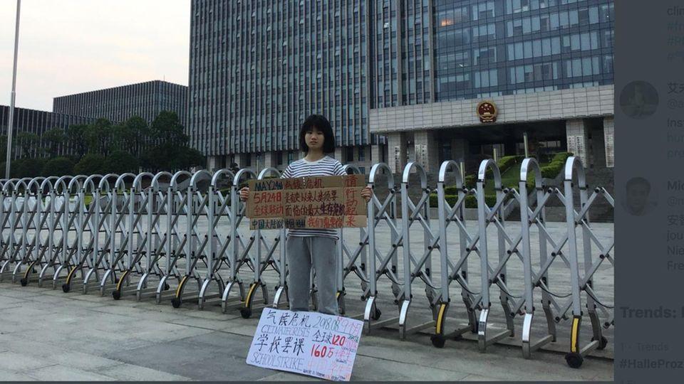 Fridays For Future: Chinesische Klimastreikerin soll nicht mehr zur Schule dürfen, wenn sie ihren Kampf weiterführt