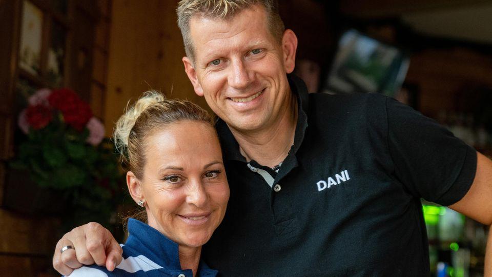 Marion Pfaff alias Krümel und ihr Ehemann Daniel
