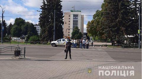 Ukraine: Die Polizei riegelt die Innenstadt von Luzk ab