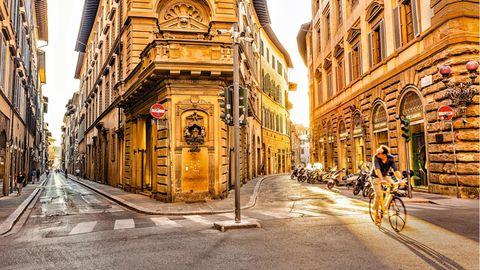 Eine Straße in Florenz