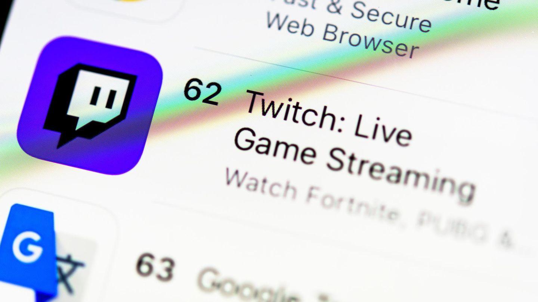 Screenshot mit Link zur Streaming-Plattform Twitch