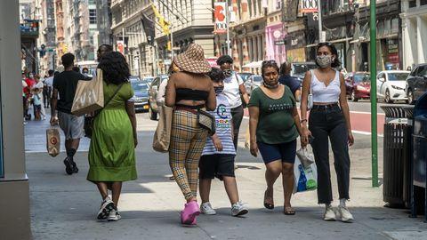 Coronavirus in den USA: Menschen im New Yorker Stadtteil Soho, Manhattan