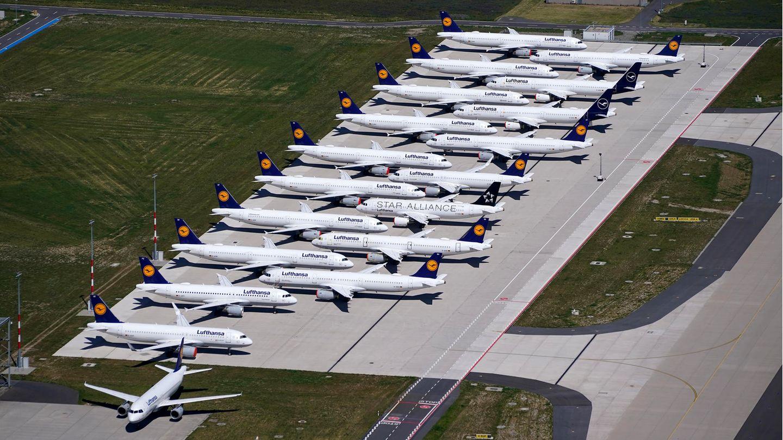 Noch parken Jets der Lufthansa am Flughafen Berlin Brandenburg. Wird der BERwie geplant am 31. Oktober 2020 eröffnet werden?