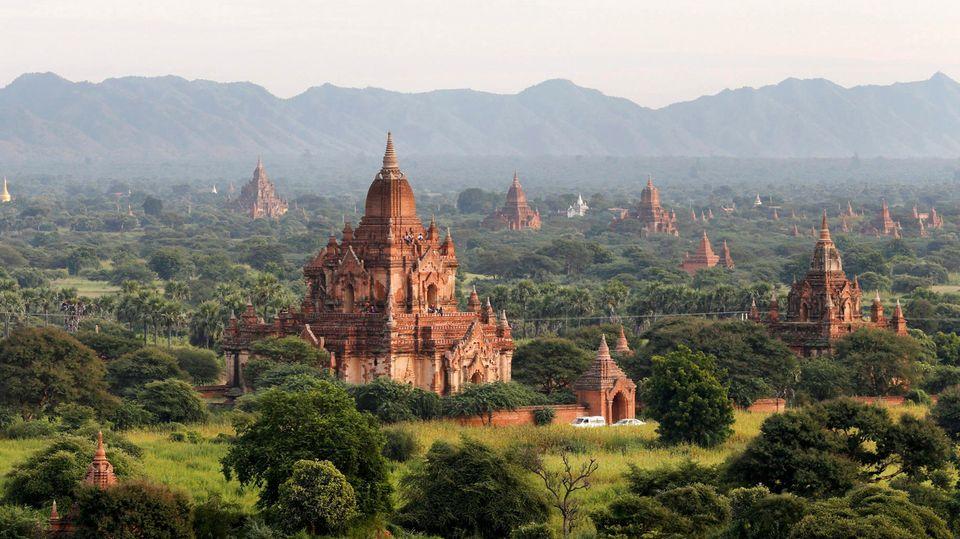 Die alte Königsstadt Bagan in Myanamr