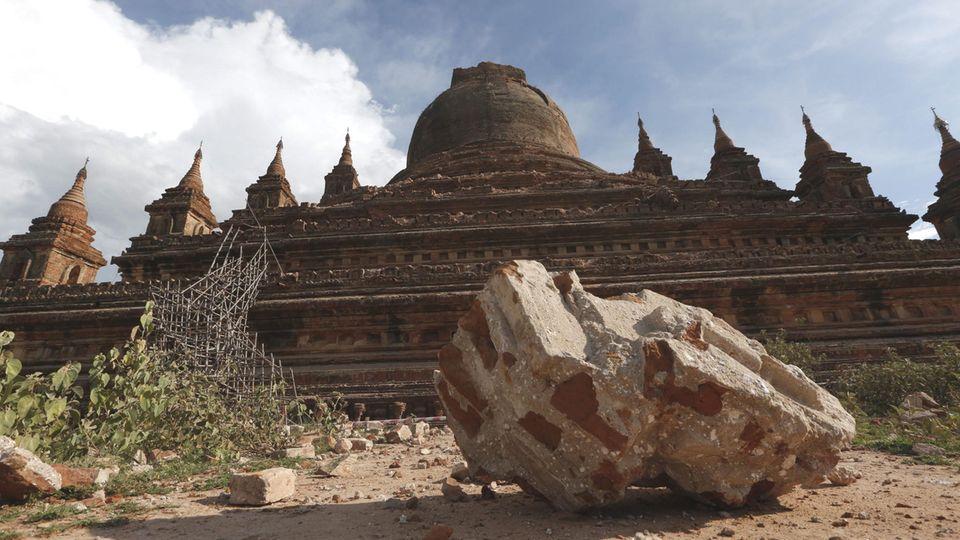 Vor vier Jahren war die weltbekannte Tempelanlage Bagan in Myanmar bei einem heftigen Erdbeben stark beschädigt