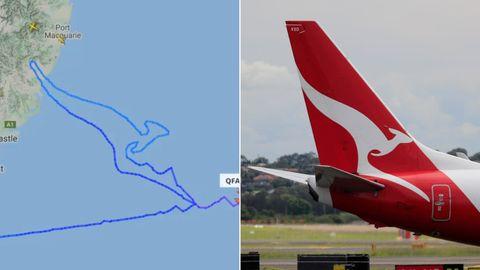 Die letzte Boeing 747 von Qantas zeichnet das legendäre Känguru-Logo der Fluggesellschaft.