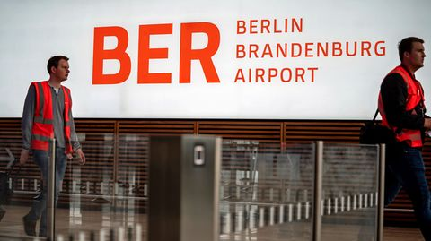 Probelauf am Flughafen Berlin Brandenburg