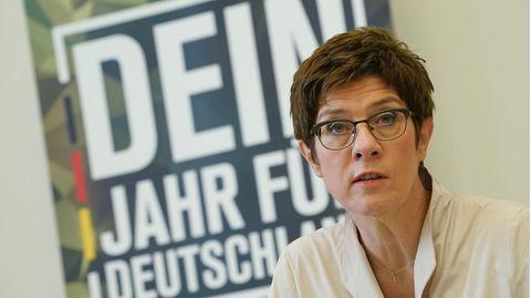 Bundesverteidigungsministerin Annegret Kramp-Karrenbauer