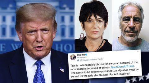Ghislaine Maxwell: Donald Trump erntet Kritik aus den eigenen Reihen.